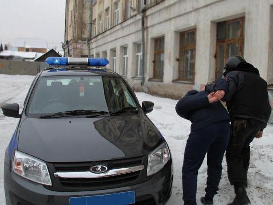Охрана задерживает преступника на месте преступления