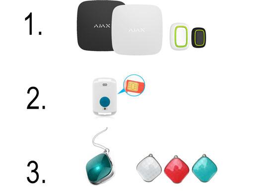 Кулони і кнопки для виклику допомоги (без датчика падіння)