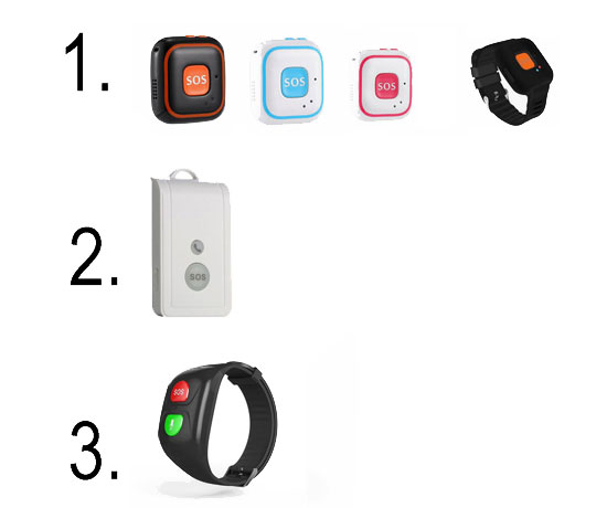 Браслет, GPS-трекер, кнопка с датчиком падения